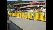 състезание в слънчев бряг с atv - Та Супермото - на цанко лудия му изпадат бушоните ( Черното Atv )