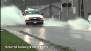 Пороен дъжд & улично наводнение в Марион, Илинойс 7.8.2014