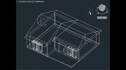 Autocad 3d house modelling tutorial (basic)