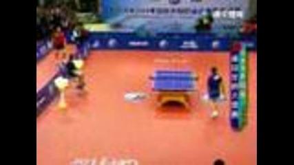 Weird ping pong match