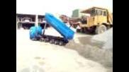 Rc Truck beim Abladen