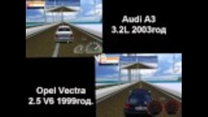 Racer Opel Vectra 2.5 V6 vs Audi A3 3.2l