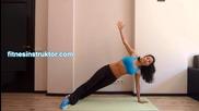 Домашни смазващи корема упражнения
