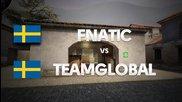 Fnatic vs Teamglobal on de_mirage (2nd map) @ Hitbox
