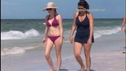 Топъл ден на плажа в Сарасота, Флорида 9.8.2014 (91°f - 33°c)