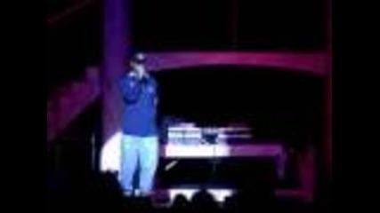 Съобщение за смъртта на Tupac Shakur на концерт на Nas