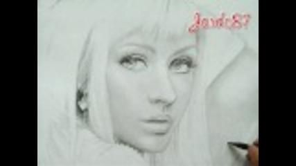 Рисунка на Christina Aguilera