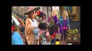 """Olivia Holt (""""girl Vs. Monster"""") Monstober Shriek-tacular Stopby With """"jessie"""" cast"""