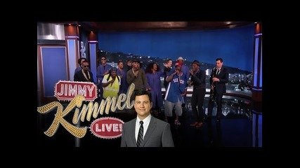 Тримата пичове от улицата при Jimmy Kimmel feat. feat. Trey Songz, Juicy J & Aloe Blacc