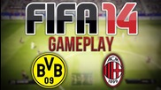 Fifa 14 Gameplay - Milan v Borussia Dortmund