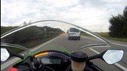 Най бързата скорост на Kawasaki Zx10r