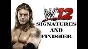 Wwe 12 - Edge - Signature and Finisher - New Spear Animation