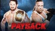 Rob Van Dam vs. Bad News Barrett - Wwe Payback 2014 - Wwe 2k14 Simulation