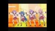 Anime mix dance on the floor