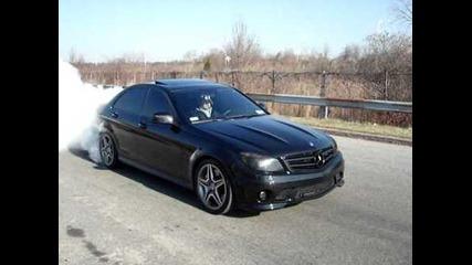 Mercedes C63 Amg 600hp... Burnout