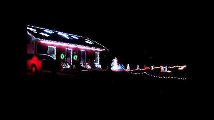 Skrillex ruffneck bass full flex to Christmas lights ( not a Christmas song! )
