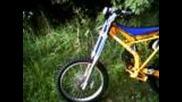 Extreme Downhill Kawasaki Kx125 mountain bike with Rohloff Speedhub gearbox