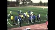 Наказаха футболист да не играе футбол до живот заради каратистки удар