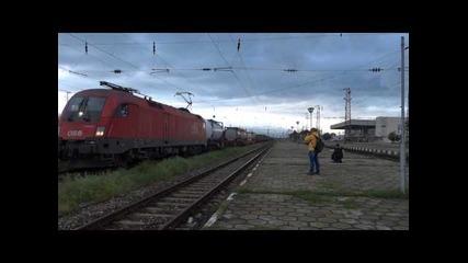 Влак 40639 напуска гара Карнобат