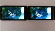 Sony Xperia S vs Htc One X, Bravia vs super Lcd 2 quality comparison, screens 100% brightness