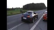 Toyota Supra - Супер звук и burnout