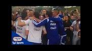 Аржентинските играчи пеят