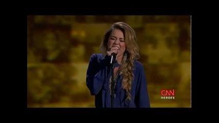 Ето как се пее на живо... Майли Сайръс - The Climb