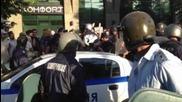 Протестът пред общината във Варна