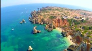 Ponta da Piedade, Camilo beach and Dona Ana beach aerial view - Lagos - Algarve