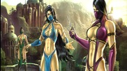 Mortal Kombat 9 - Kitana & Mileena Tag Team Ladder Gameplay Playthrough