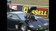 Lamborghini Drag Car ( Ib6ub9 ) Hits The Wall At Full Throttle Friday - 18.2.2011