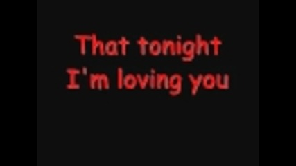Enrique Iglasias - Tonight (i'm loving you) lyrics