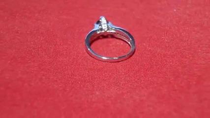 годежен прьстен сьс сапфир и диаманти Kirkorian Diamonds