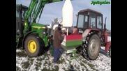Торене 2011 с Belarus 952 + John Deere 6610