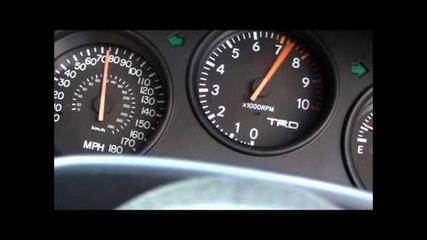 Ускорение на Toyota supra 0 - 170mph