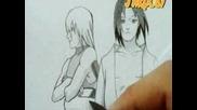 Drawing Team Hebi (sasuke Uchiha, Hoozaki Suigetsu, Karin & Juugo) By Jardc87