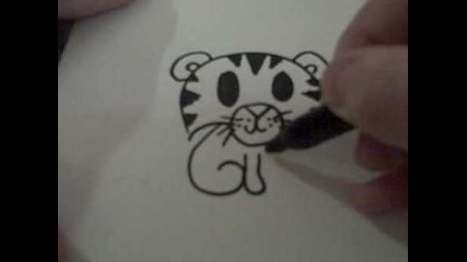 How to draw cute tiger