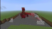 Minecraft - Feed the Beast: 160 turrets vs 1 Hydra