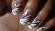Watermelon color inspired nails =)