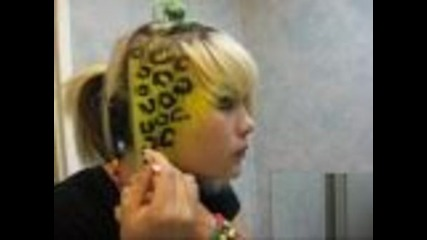 Как да направите леопардови кичури в косата си.. :)
