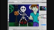Minecraft Art: The Halloween Nightmare