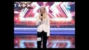 """X Factor Bulgaria - Mari - Girl falls off stage singing """"you give love a bad name"""""""