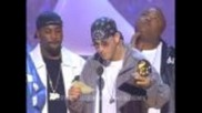 Eminem accepting the Grammy for Best Rap Album at the 43rd Grammy Awards