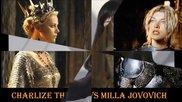 Чарлийз Терон срещу Мила Йовович: Гореща секси Борба между доста красиви жени - Прекрасните жени