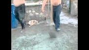горна малина бъркане на бетон