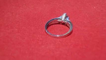годежен прьстен с диаманти и аквамарин Kirkorian Diamonds