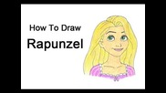How to Draw Rapunzel from Tangled