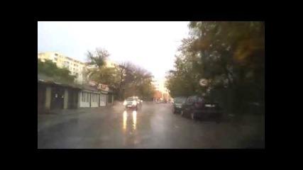 Силен дъжд във Велико Търново 18.10.2014