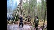 Рне - Устроиване на партизански лагер в гората