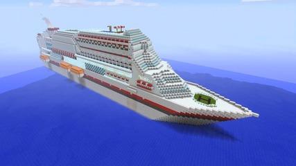 Minecraft кораб
